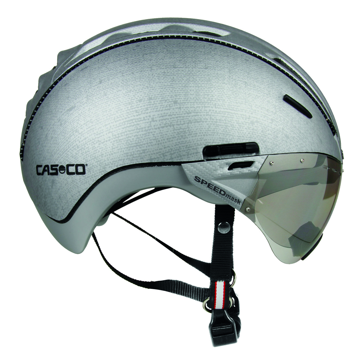 casco city helm roadster inkl visier silber