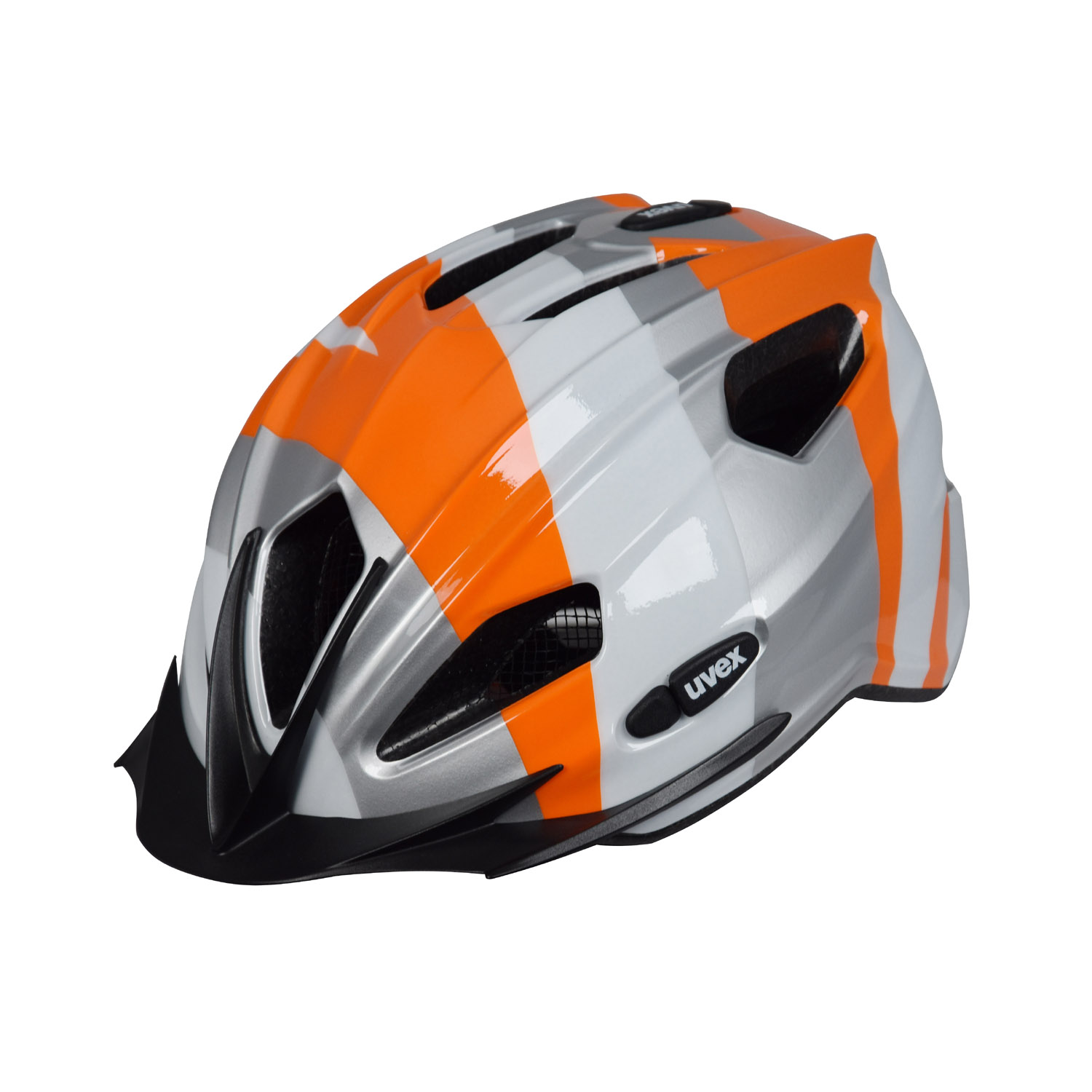 uvex quatro junior kinderhelm silber orange a