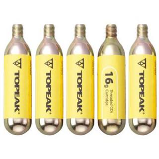 Topeak 5er-Pack CO2-Kartuschen mit Gewinde