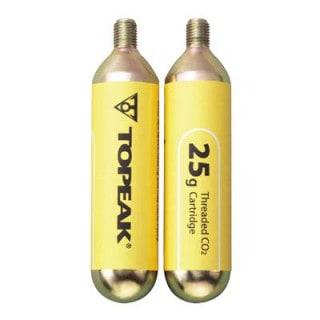 Topeak 2er-Pack CO2-Kartuschen (25 g) mit Gewinde