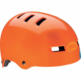 Bell BMX-Helm Faction, orange sugar skull