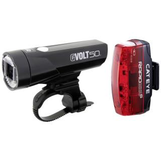 Cateye GVolt 50 + Rapid Micro G USB Fahrradbeleuchtungsset
