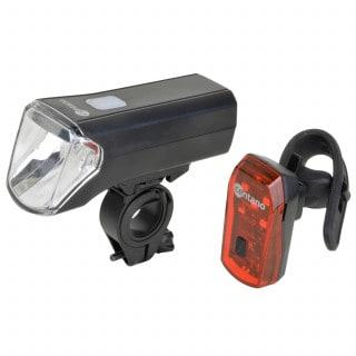 Centano Katmai Fahrrad-Beleuchtungsset (Frontlicht + Rücklicht)