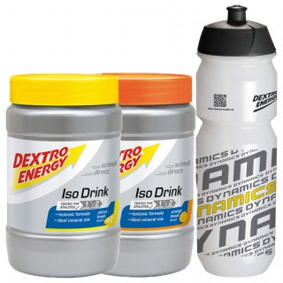 Dextro Energy Isotonic Drink (2x 440 g) + Dynamics Trinkflasche (750 ml)