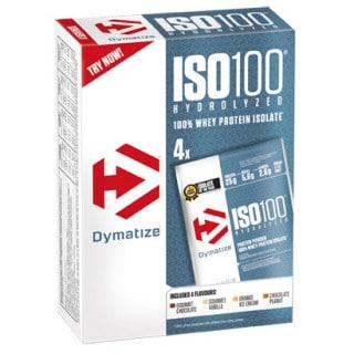 Dymatize ISO100 Hydrolized Eiweißpulver Multipack (4 x 31 g)