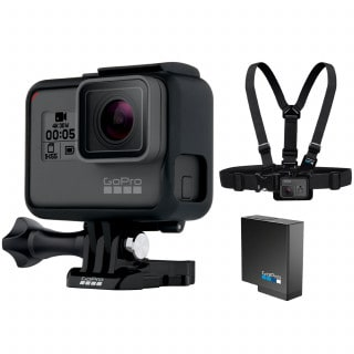 GoPro Hero5 Black Helmkamera Bundle inkl. Ersatzakku + Brustgurt