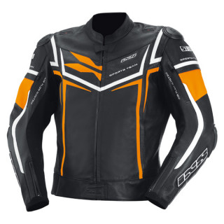 IXS Sting Lederjacke schwarz-orange