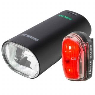Litecco Highlux 30 + Cando Fahrradlicht Set