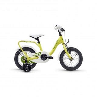 "S´Cool Nixe 12 Steel Kinderfahrrad 12"" grün-gelb-weiß"