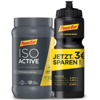 Powerbar Isoactive (600 g) + Trinkflasche (750 ml)
