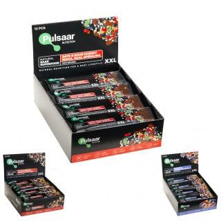 Pulsaar Nutrition Natural Baar veganer Energieriegel Box (12 x 60 g)