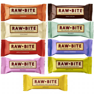 Raw Bite The Organic Fruit Nut Bite Sportriegel (50 g) Vegan