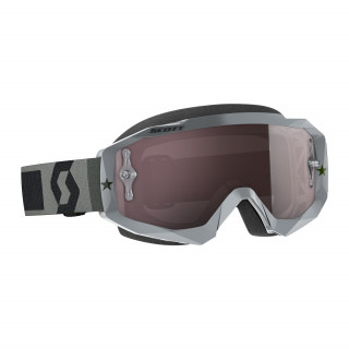 Scott Hustle MX Crossbrille Grey Chrome