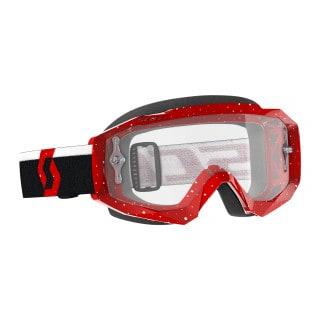 Scott Hustle X MX Crossbrille Red/White