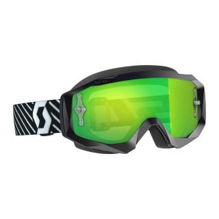 Scott Hustle X MX Crossbrille Black/White Green Chrome