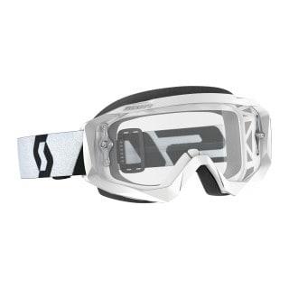 Scott Hustle X MX Crossbrille White/Black