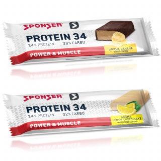 Sponser Protein 34 Eiweiß-Riegel (40 g oder 50 g)