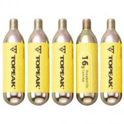 Topeak 5er-Pack CO2-Kartuschen mit Gewinde (5x16 g)