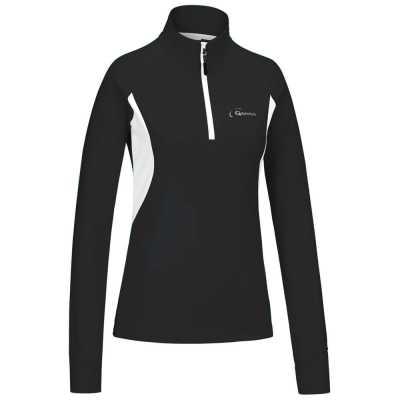 Gonso Damen Shirt-Trikot Adele, schwarz/weiß