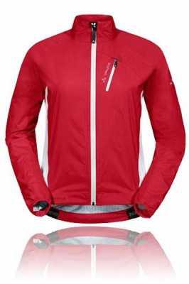 Vaude Damen Regenjacke Spray Jacket IV, rot-weiß