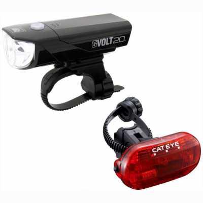 Cateye GVolt 20 HL-EL350G + TL-LD135G Fahrradbeleuchtungsset