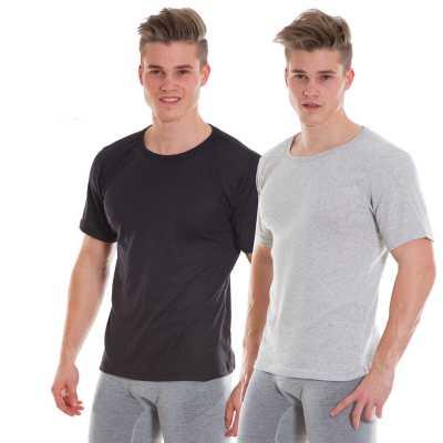 DYNAMICS Doppelpack Unterhemden kurzarm Herren
