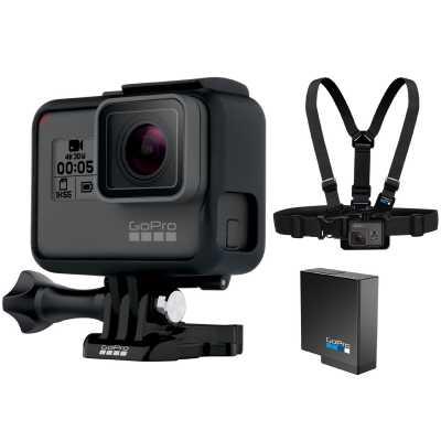 GoPro Hero5 Black Helmkamera Bundle inkl. Ersatzakku + Brustgurt