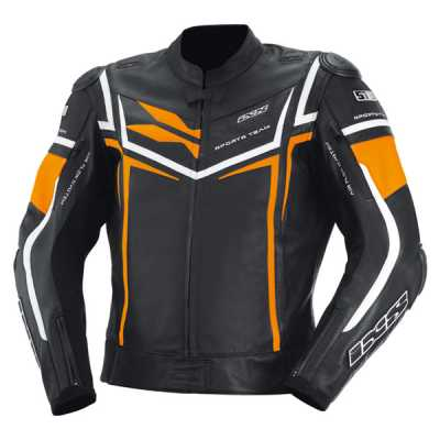 IXS Sting Lederjacke schwarz-orange