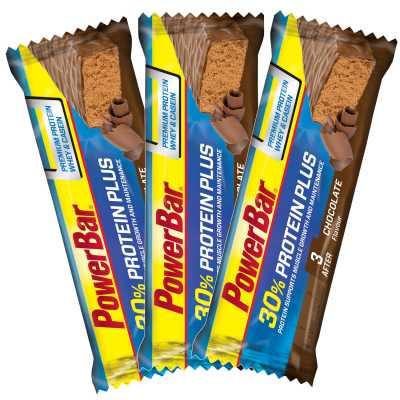 Powerbar Protein Plus 30 % Sportriegel Multipack (3 x 55 g) Schokolade