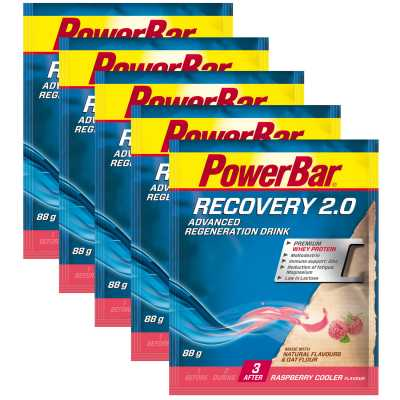 Powerbar Recovery 2.0 Regeneration Drink Fünferpack (5 x 88 g)