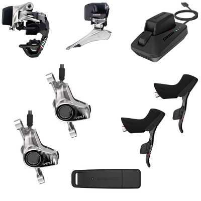 SRAM Red eTAP Kit hydraulisch Flatmount-Scheibenbremsaufnahme