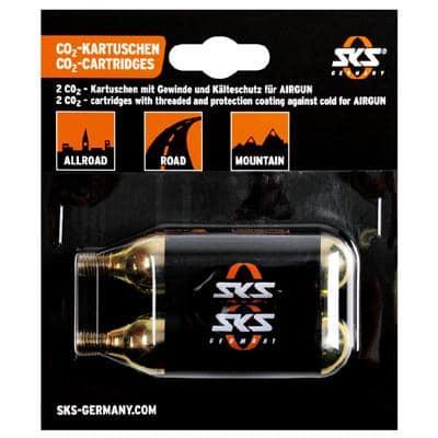 SKS Kartuschen CO2 2er-Pack mit Gewinde