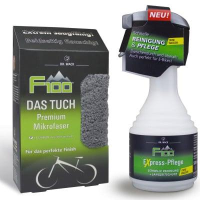 Dr. Wack F100 Express-Pflege Fahrrad-Trockenreiniger (500 ml) + Das Tuch Premium Mikrofaser