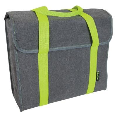 FastRider Shopper De Luxe Melange Fluo grün Fahrrad-Einkaufstasche