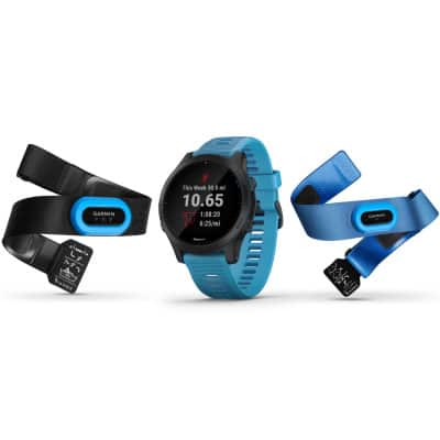 Garmin Forerunner 945 GPS Multisportuhr Triathlon-Bundle