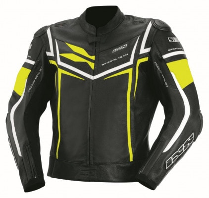 IXS Sting Lederjacke schwarz-gelb