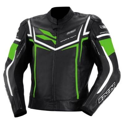 IXS Sting Lederjacke schwarz-grün