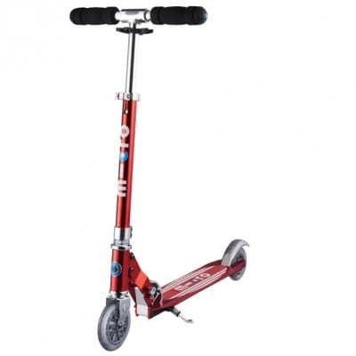 Micro Sprite red stripes Scooter