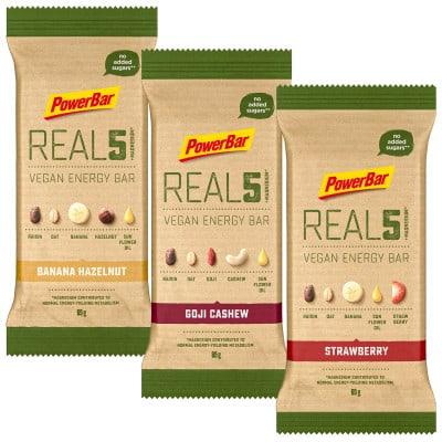 Powerbar REAL5 Vegan Energy-Riegel (65 g)