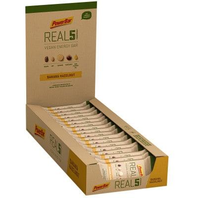 Powerbar REAL5 Vegan Energy-Riegel Box (18 x 65 g)