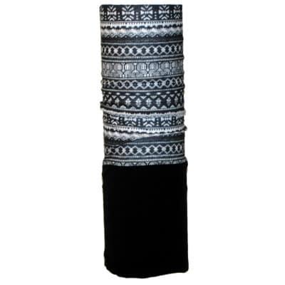 Racer Fleece Multifunktionstuch schwarz-weiß
