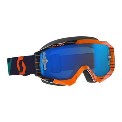 Scott Hustle MX Crossbrille Orange/Blue Chrome