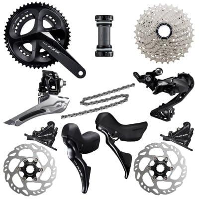 Shimano 105 R7000 Rennrad-Schaltgruppe (2x11) Scheibenbremse mit kleinen Bremsgriffen