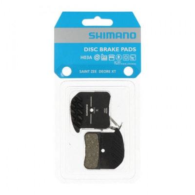 Shimano H03A Ice-Tech Resin Scheibenbremsbeläge mit Kühlrippen