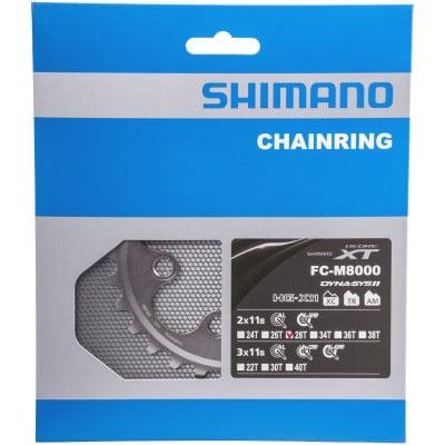 Shimano MTB-Kettenblatt XT FC-M8000 28 Z (2x11-fach)
