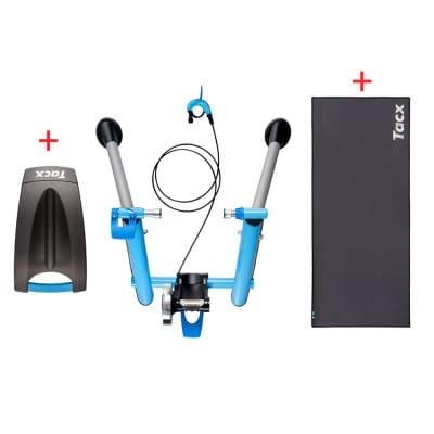 Tacx T-2635 Cycletrainer BLUE MOTION PRO inkl. Skyliner und Trainingsmatte