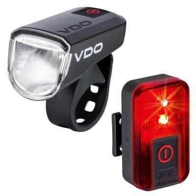 VDO Eco Light M30 + Red Fahrrad-Frontlicht + Rücklicht