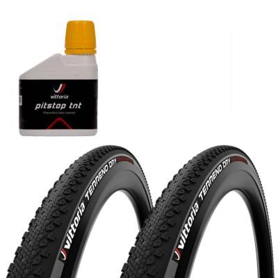 """Vittoria Terreno Dry TNT G2.0 Cross-Reifen + PitStop Sealant (28"""")"""