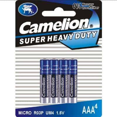 Camelion 4 Micro R 03 Batterien