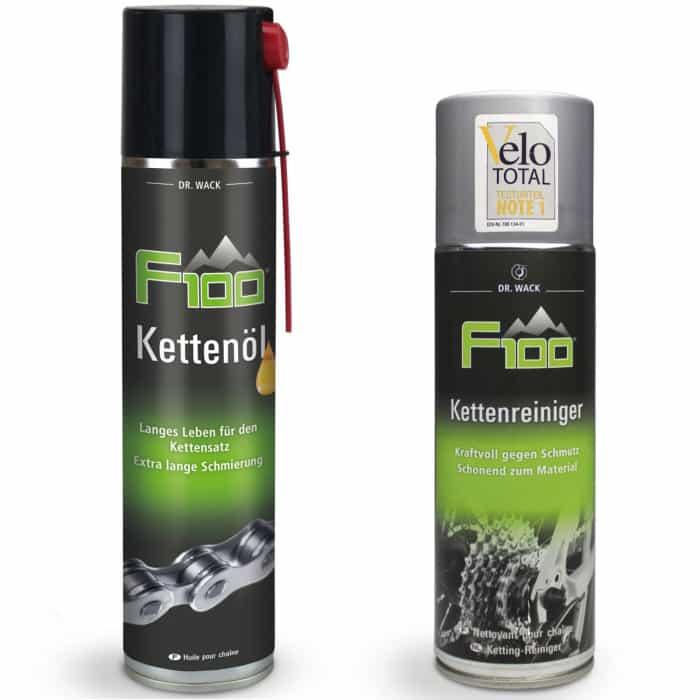 Dr. Wack F100 Kettenöl (400 ml) + Kettenreiniger (400 ml)